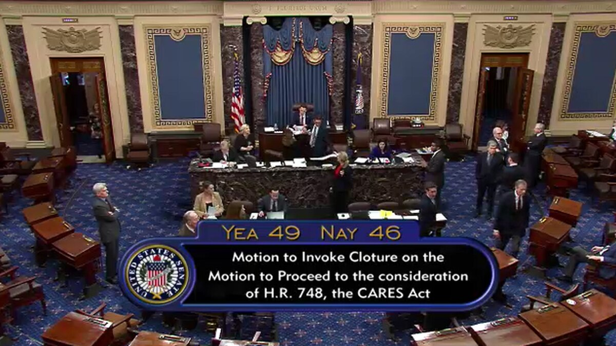 Tempers flare as Democrats again block action on rescue package