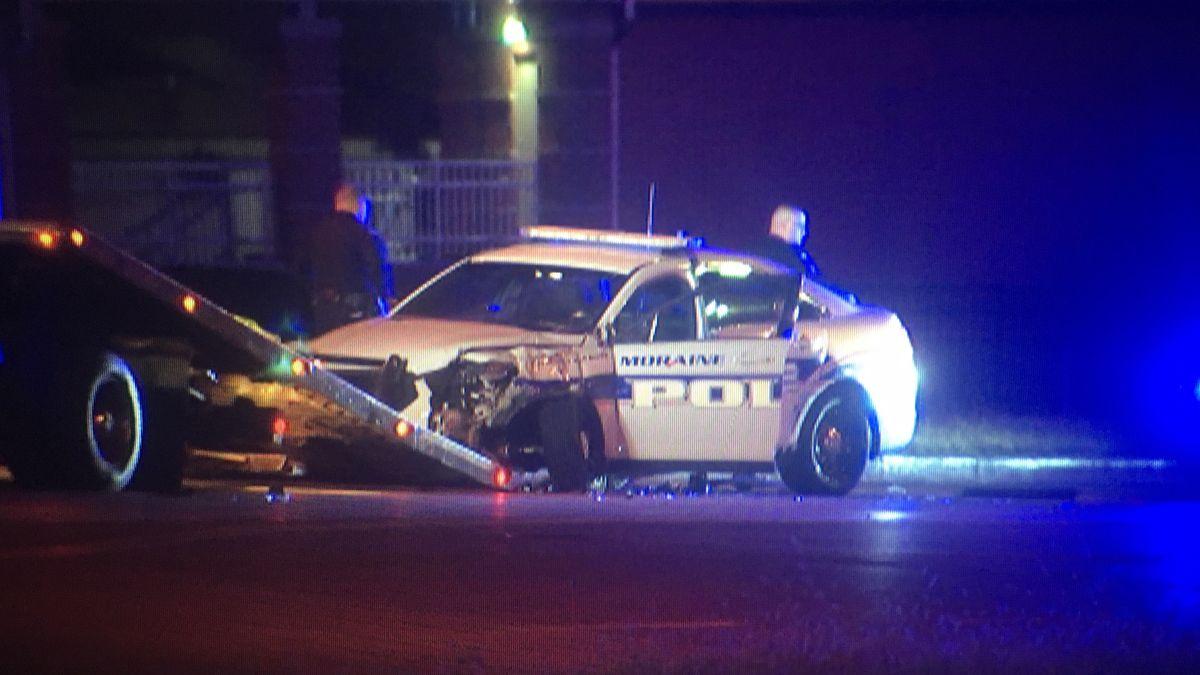 UPDATE: Moraine police cruiser crashes during chase in Dayton