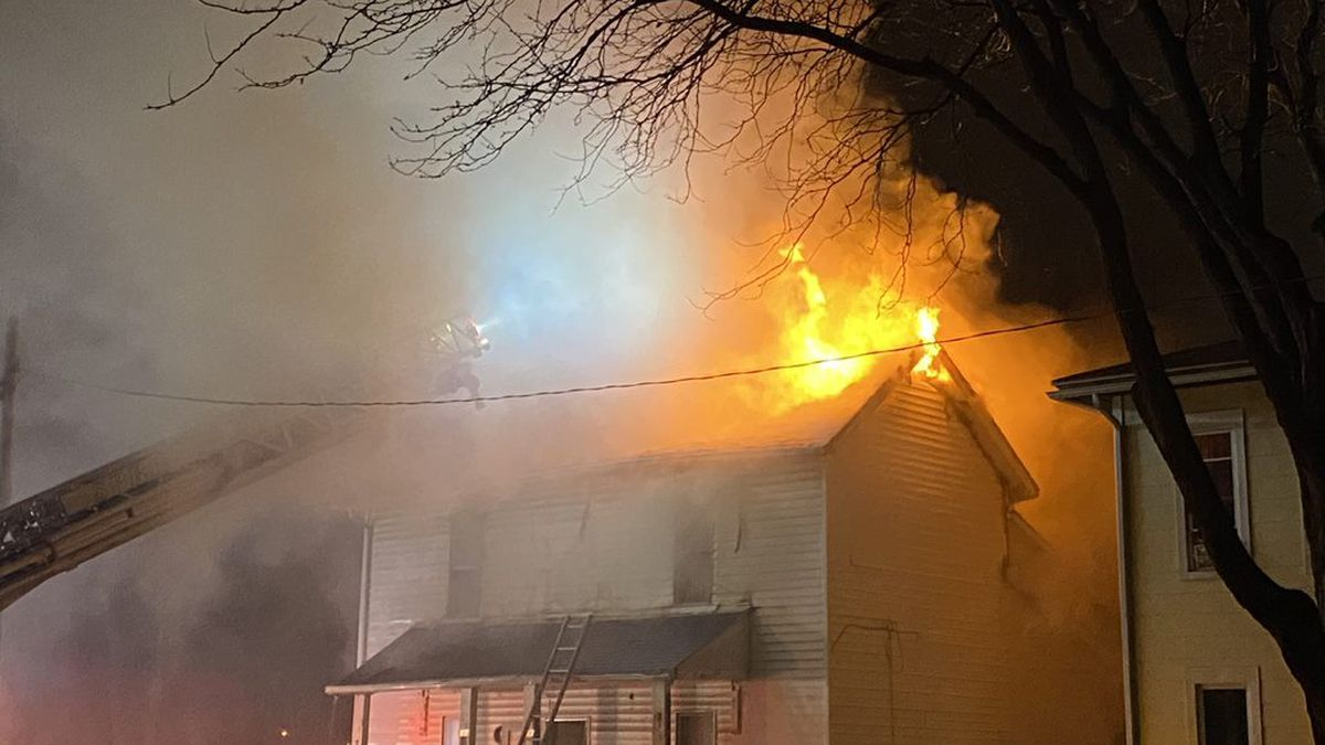 House a total loss after crews battle fire on West High Street in Springfield Sunday morning