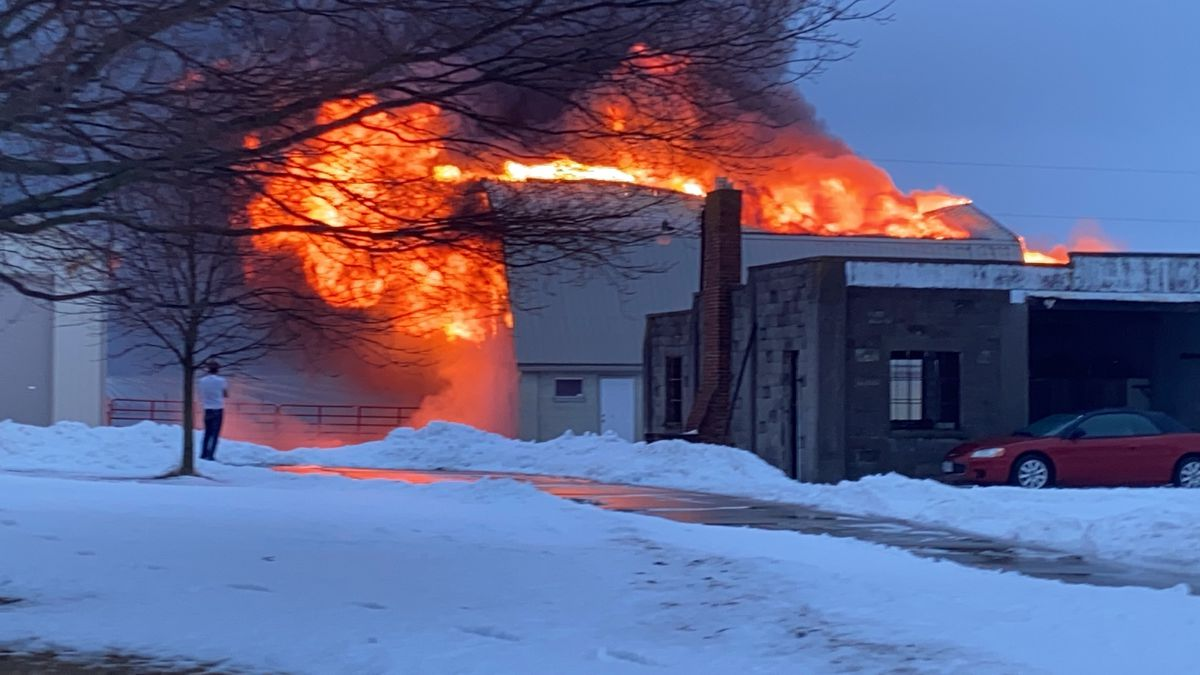 Pen of goats killed in large barn fire in Miami County Monday morning