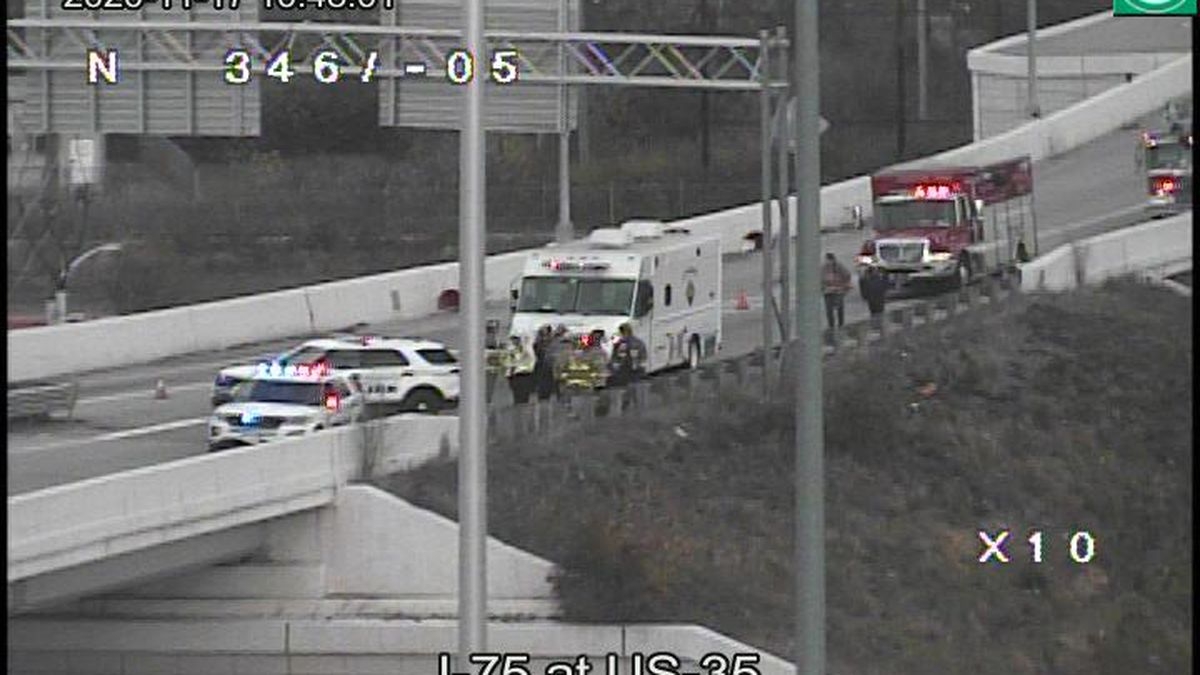 EB U.S. 35 ramp from I-75 SB reopens following Hazmat spill