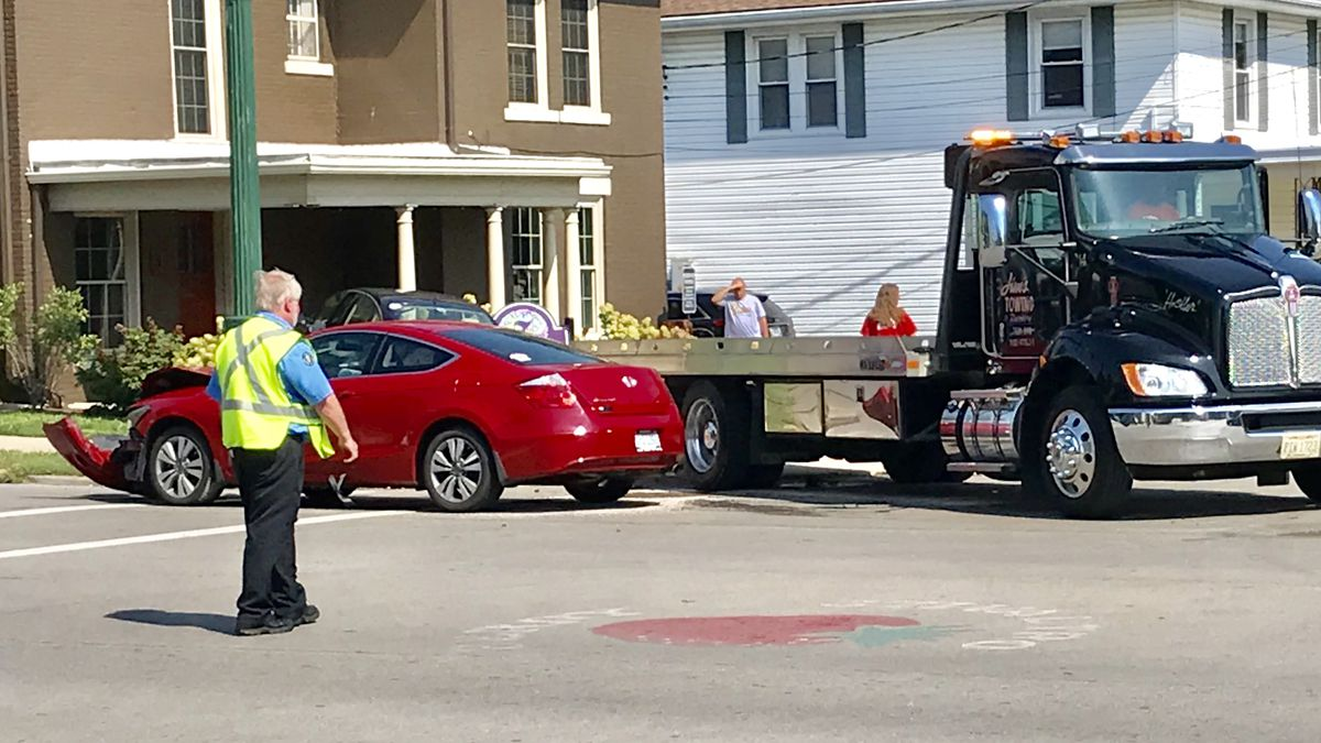 Two-vehicle accident in downtown Troy involves high school students