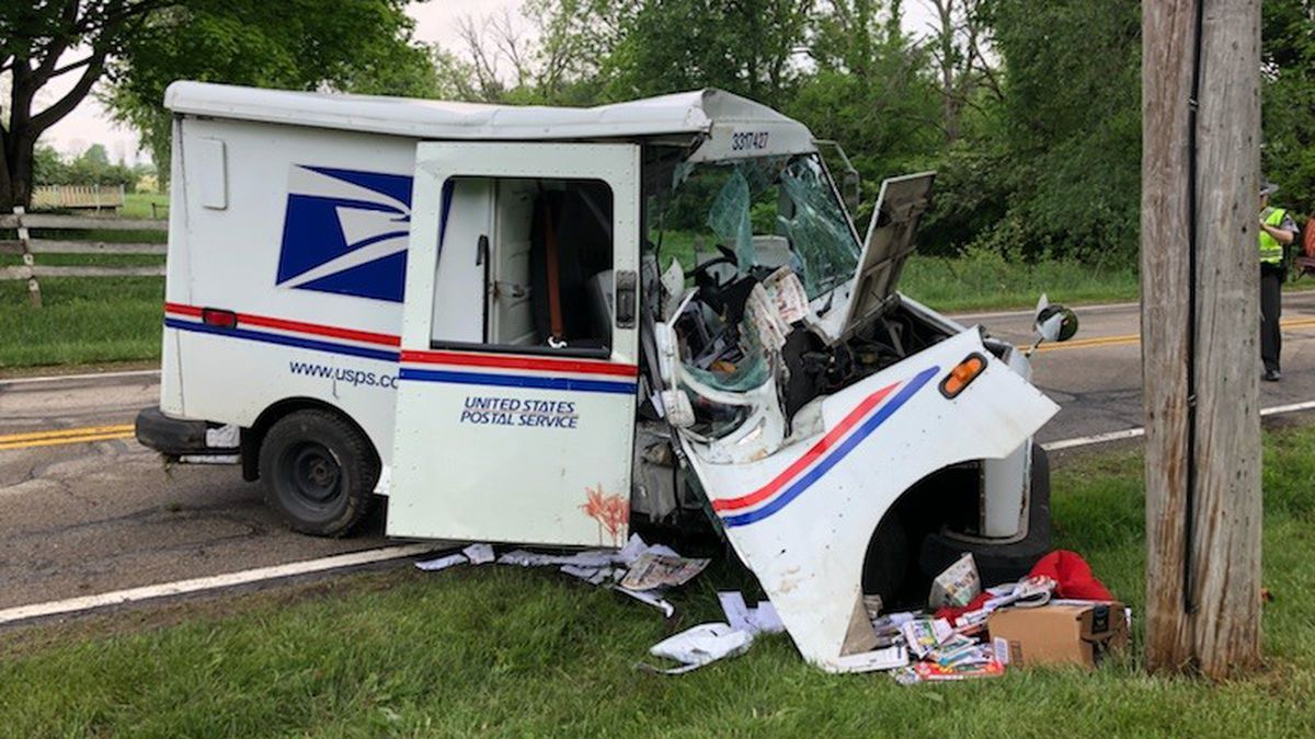 Letter Carrier Ejected In Clark Co Mail Truck Crash