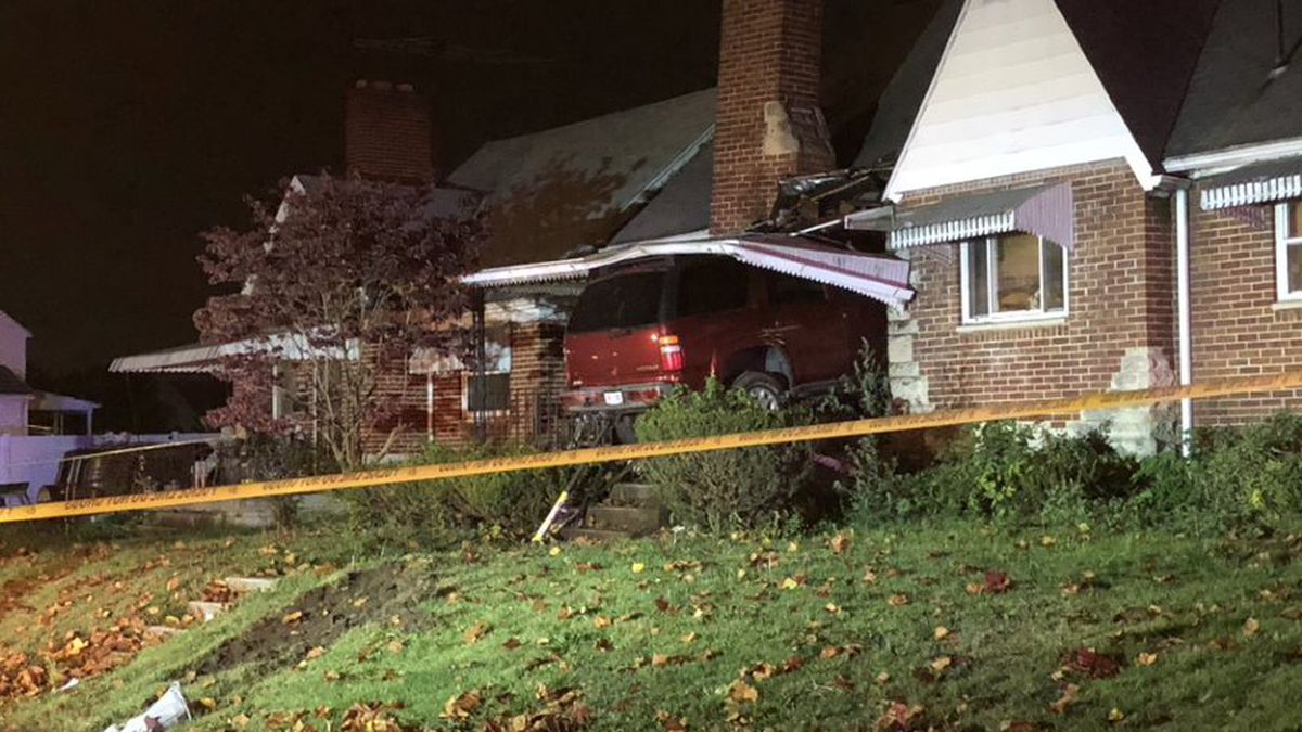 2 taken to hospital after apparent medical issue causes SUV to crash into home on Leo Street