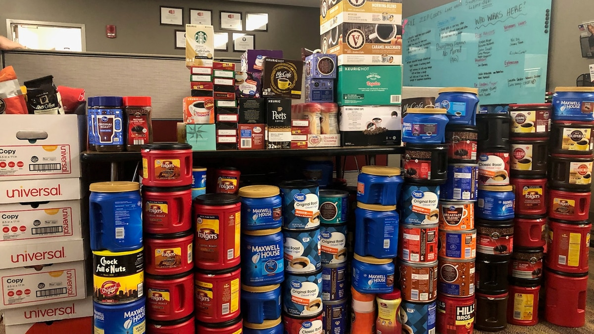 Wright State student helps collect coffee for Red Cross veteran program