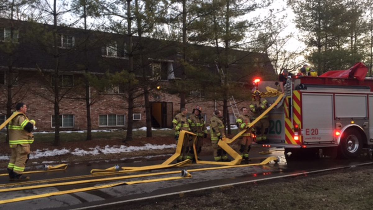 No injuries in Franklin apartment building fire traced to clothes dryer