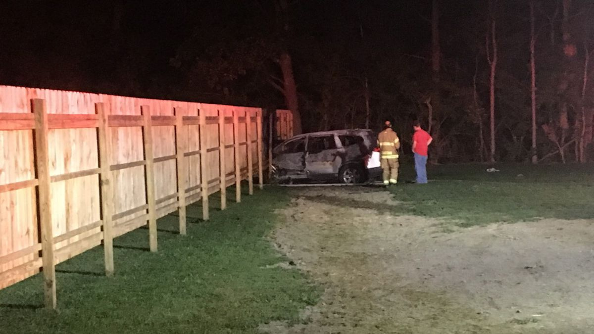 Teen cited after vehicle crashes, catches fire in Miami County