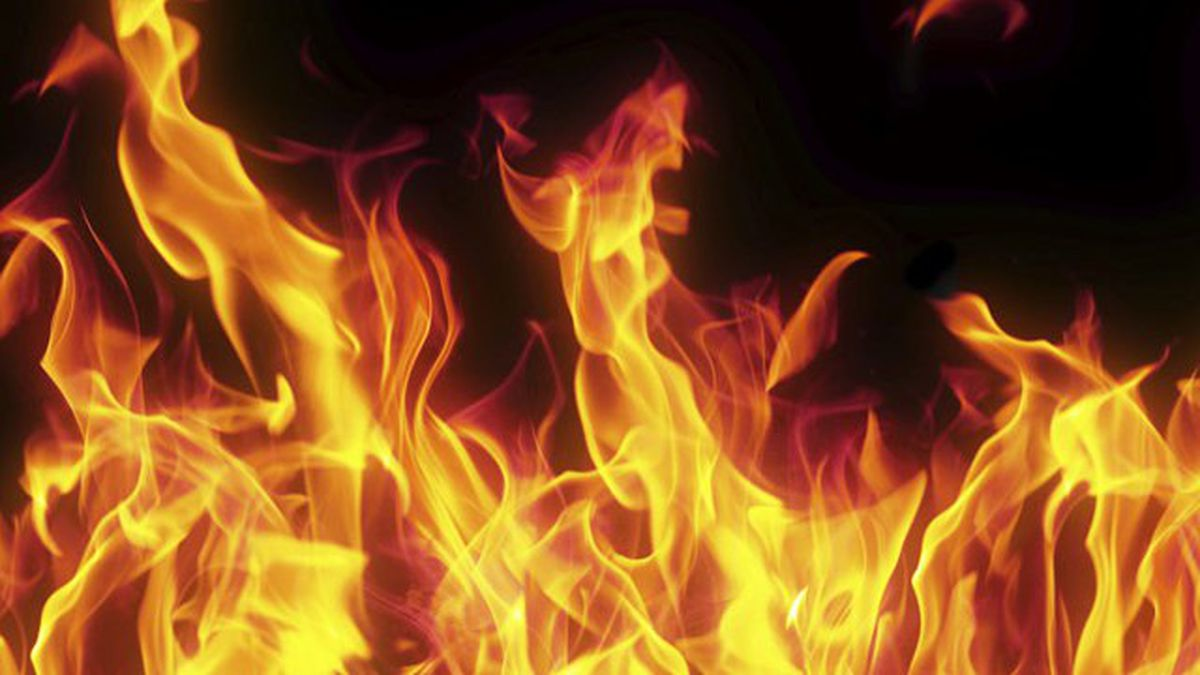 Vehicle reported on fire at Dayton crash