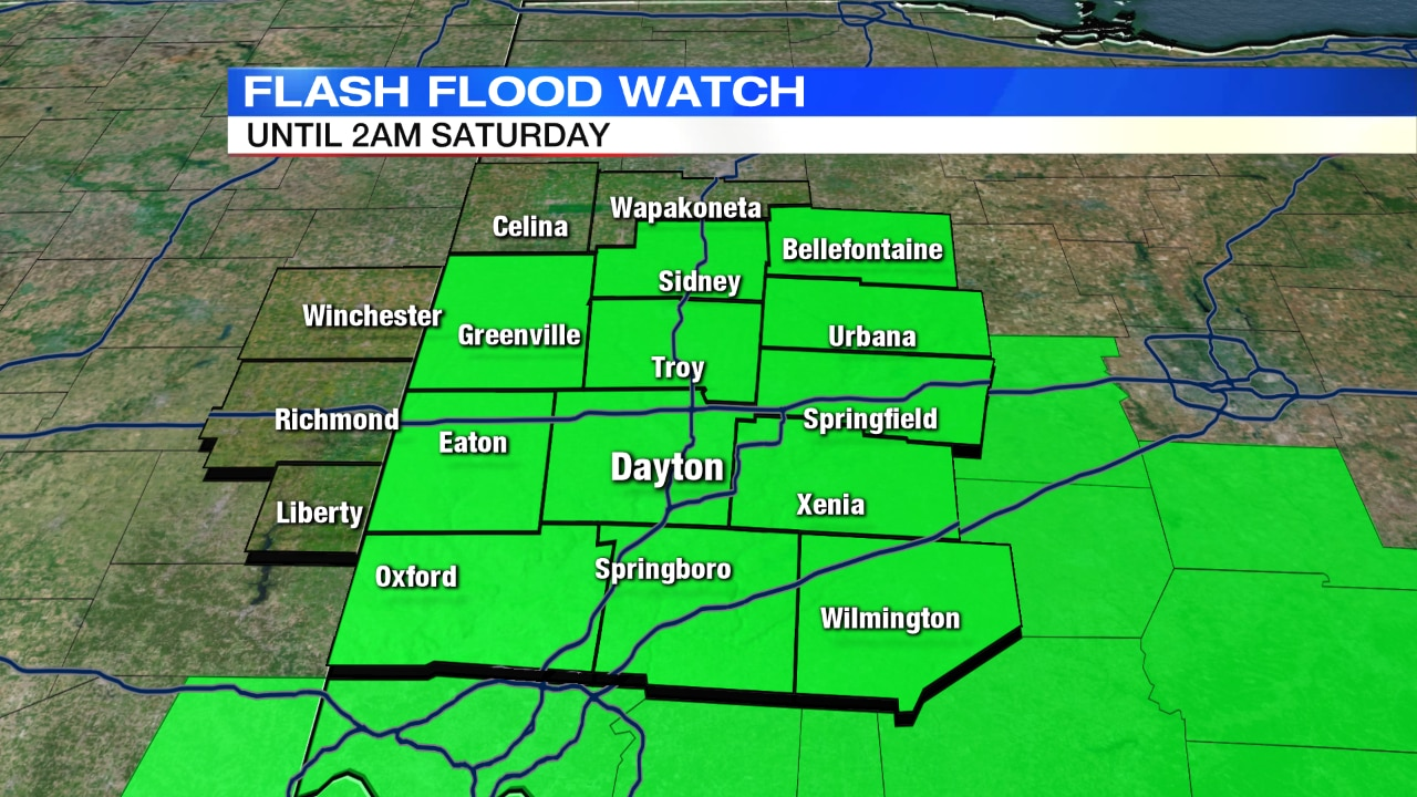 Flash Flood Watch issued for most; showers, storms develop tonight