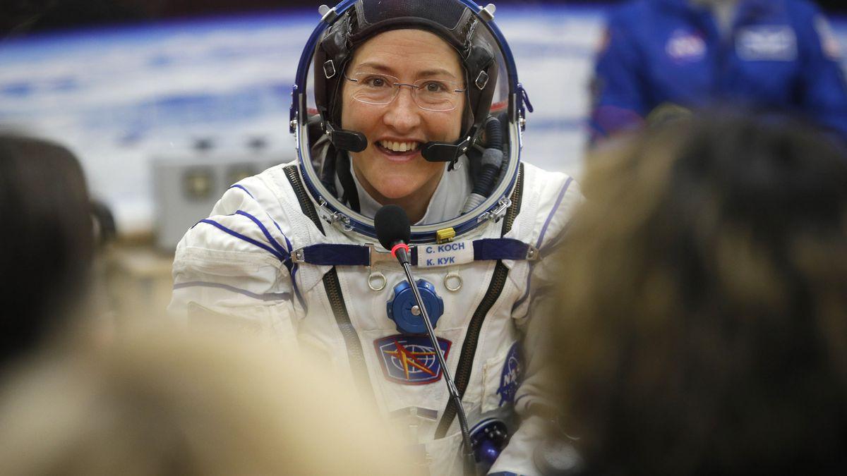 Astronaut Christina Koch shares video of reunion with her dog