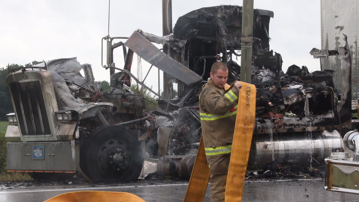 I-70 east reopens in Clark County after semi fire