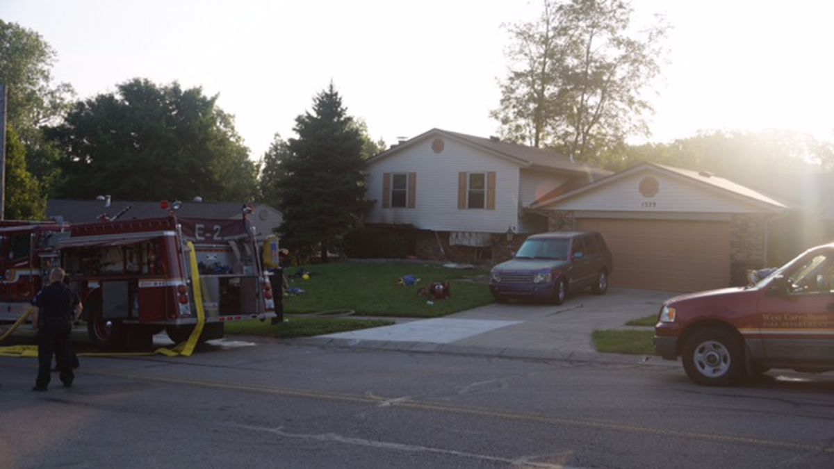 No Injuries Reported In West Carrollton House Fire